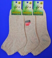 Носки женские лен со слабой резинкой