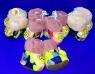"""Пинетки детские с 3D-игрушкой внутри с мехом с """"тормозами"""""""