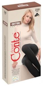 CONTE  колготки Cotton 250 хлопок черные