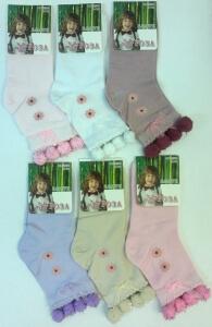 Роза носки детские ГЛАДКИЕ с помпончиками