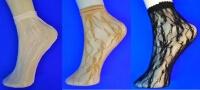 Носки женские эластик ажурные белые