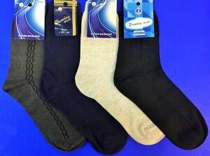 Золотая игла носки мужские с-104 черные