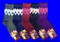 Носки женские ангора Ромбы