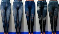 Лосины подростковые, женские джинс с разными рисунками