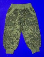 Спортивные брюки для мальчиков с карманами камуфляж