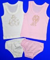 Комплект майка+трусы для девочек однотонный арт. КК 0214