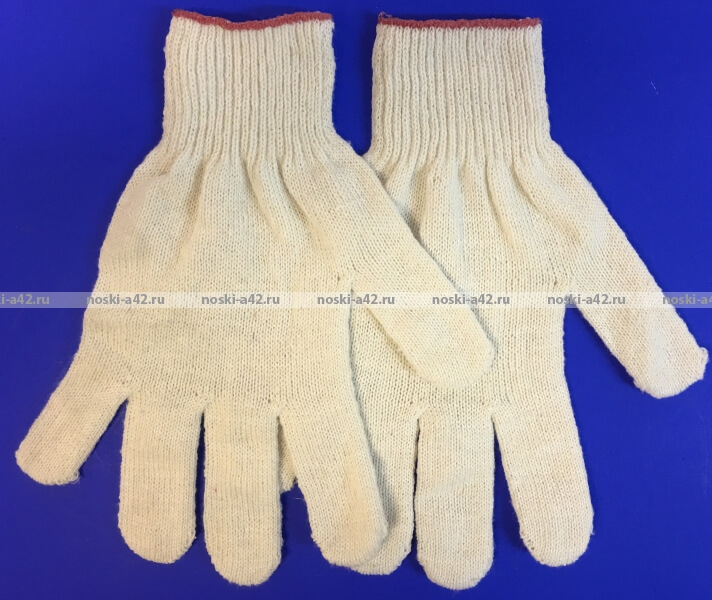 Перчатки рабочие хб - 10 класс, 4-х нитка БЕЛЫЕ