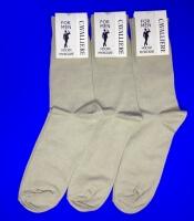 Кавалер носки мужские с-330 бежевые