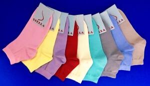 Стелла носки женские укороченные с-420 ассорти яркие