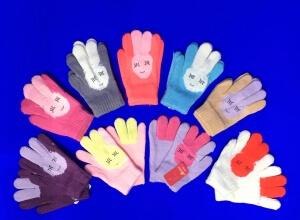 Перчатки детские внутри с начесом «Зайка»