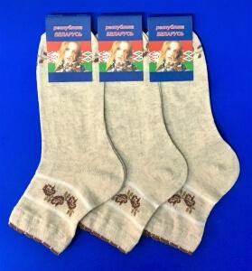 Беларусь носки женские лен гладкие укороченные