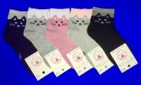 Роза носки детские на девочек Кошки