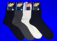 Джентельмен носки мужские СЕТКА М-3 белые