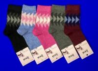 Зувей носки женские ангора + шерсть с рисунком арт. 4782