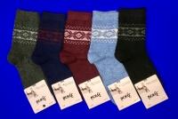 Зувей носки женские ангора + шерсть с рисунком арт. 4781