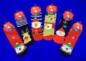 BFL носки внутри махра Новогодние детские