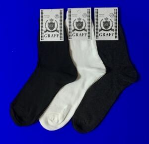 Граф носки мужские А-9 хлопок 100% темно-серые