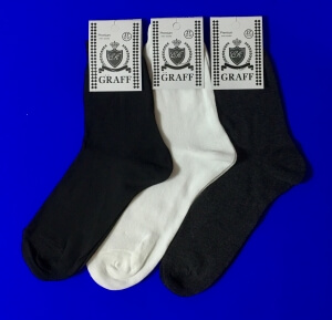 Граф носки мужские А-9 хлопок 100% белые