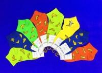 AMIGOBS ЦВЕТНЫЕ носки укороченные женские Бананы арт. 1034