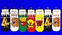 """AMIGOBS укороченные цветные носки с принтом """"Еда"""" арт. 1116"""
