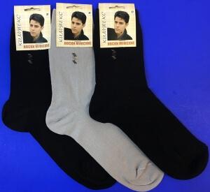 Кимтекс носки мужские с-2411 с лайкрой чёрные