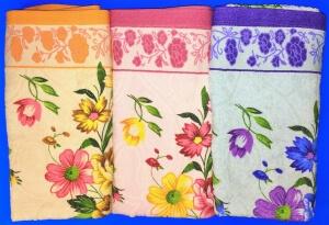 Полотенца махровые банные  Цветы