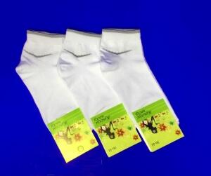 Носки женские спортивные с крапивой и эластаном арт. А-1 БЕЛЫЕ