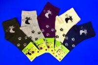 Носки женские с крапивой и эластаном арт. А-1 Кошечки
