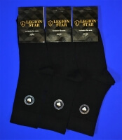 Легион носки мужские с лайкрой чёрные