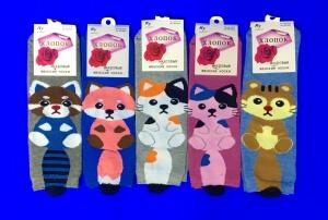 Носки женские внутри махра оптом - купить оптом в Интернет-магазине Склад носков А42 с доставкой по России