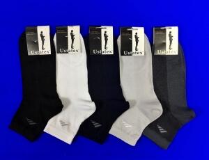 ЮстаТекс носки мужские укороченные спортивные 1с19 сетка черные