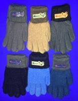Перчатки подростковые с начесом с отворотом