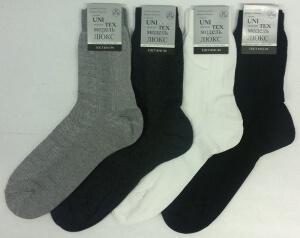 Юнитекс носки мужские М-30 сетка темно-серые