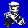 Носки-тапочки САПОЖКИ женские с мехом Олени высокие