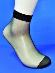 Alina носки женские эластик черные №1 (в упаковке по 5 пар)