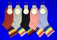 Ангел носки спортивные с яркими полосочками подростковые