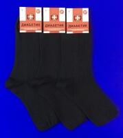 Диабетик носки мужские медицинские со слабой резинкой М-20 черные