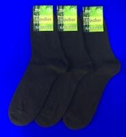 Караван носки мужские Б-1 бамбук гладкие черные