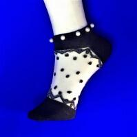 YILIDA носки укороченные женские хлопок + капрон С ЖЕМЧУГОМ арт. 8511