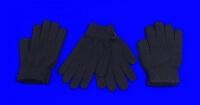 Фламинго перчатки с начесом женские, подростковые ГЛАДКИЕ черные арт. MS-0114
