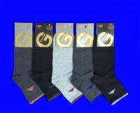 Золотая игла носки мужские укороченные спортивные с-1010 с лайкрой ТЕМНО-СЕРЫЕ