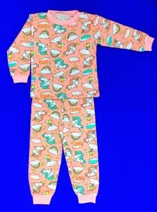 Пижамы ТЕПЛЫЕ футер-начес детские и подростковые AMOTEKS (Россия) 100% хлопок на девочек