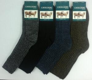 Кавалер носки мужские шерсть коричневые