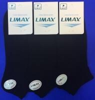 LIMAX носки мужские укороченные черные