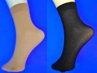Крабро носки женские 50 Den микрофибра с лайкрой чёрные Miss уплотненные