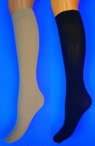 Крабро гольфы женские 50 Den микрофибра с лайкрой чёрные Miss уплотненные