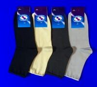 Ростекс (Рус-текс) носки медицинские женские Н-210 с лайкрой светло-серые