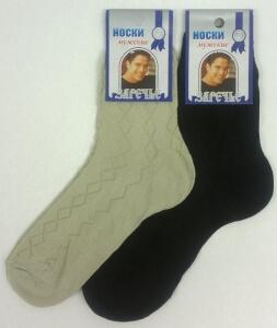 Заречье носки мужские с-156 сетка черные