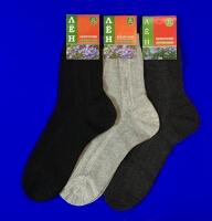 Белорусские носки мужские крашеный лён тёмно-серые