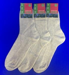 Белорусские носки мужские крашеный лён
